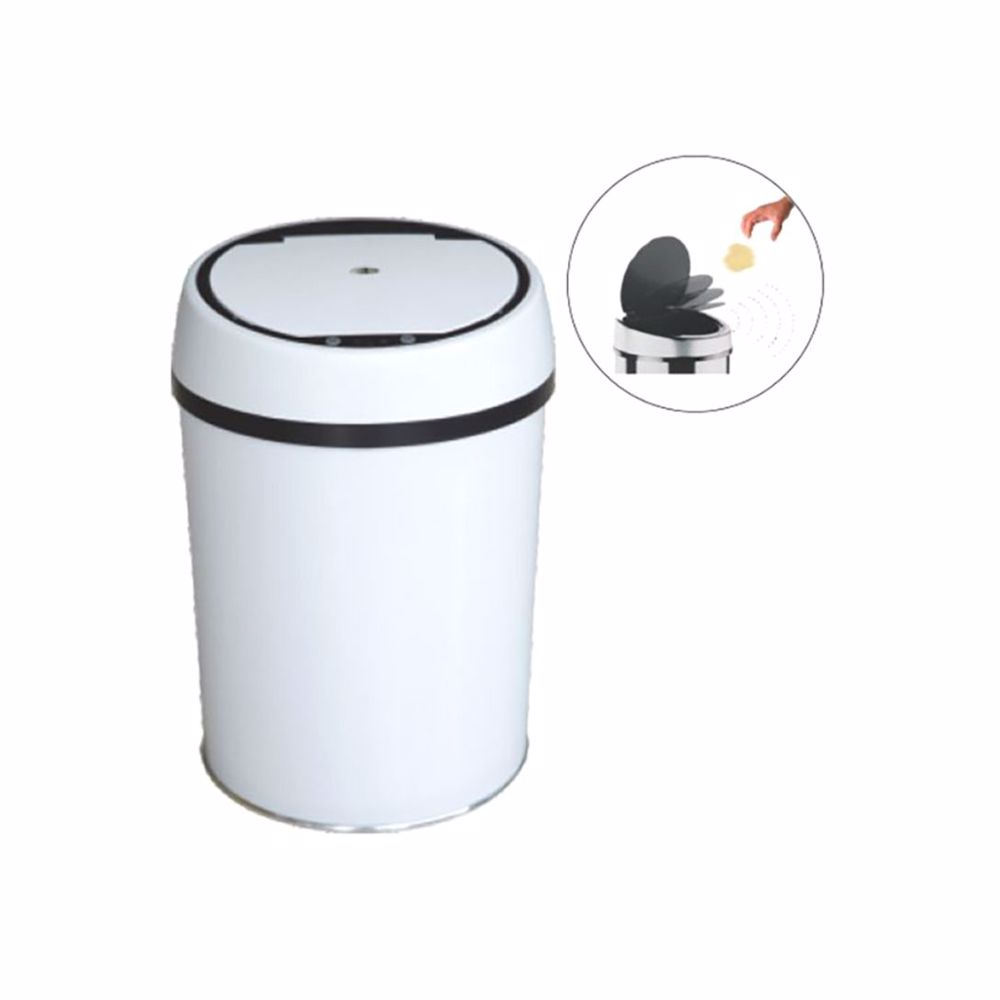 TechMate 9 Liters Automatic Sensor Dustbin with Automatic Opening System - White