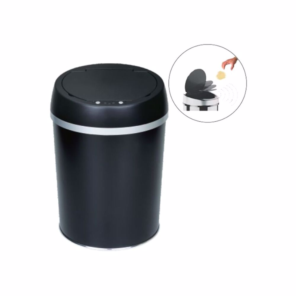 TechMate 9 Liters Automatic Sensor Dustbin with Automatic Opening System - Black