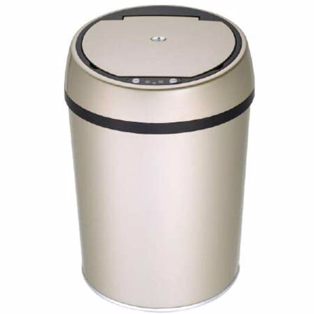 TechMate 9 Liters Automatic Sensor Dustbin with Automatic Opening System - Gold