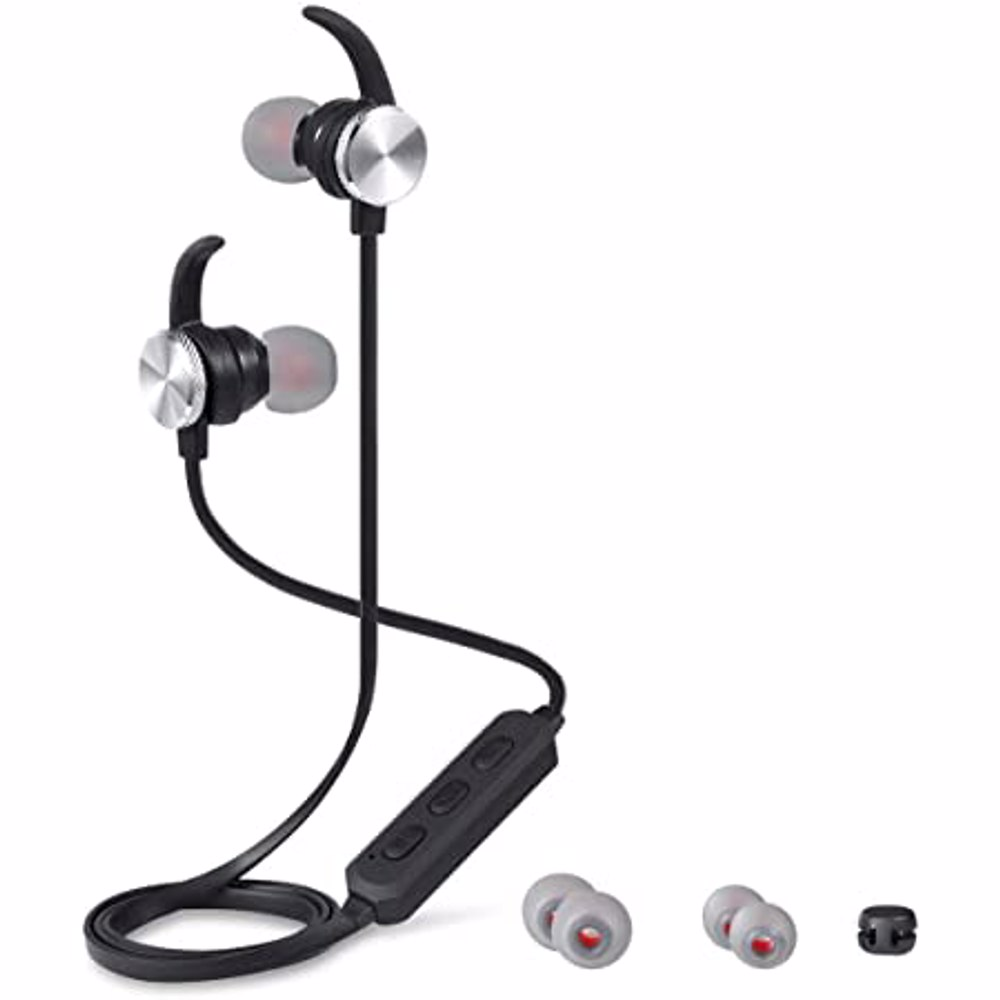 Zoook IPX4 Sports Bluetooth HD Earphone with Mic and magnetic lock design - Silver