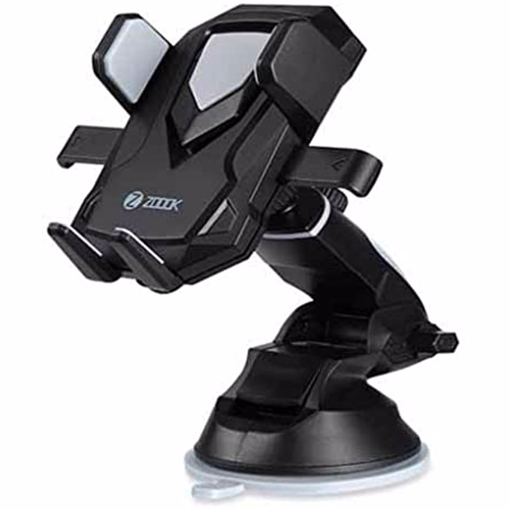 Zoook ZMT TRANSFORMER Robotic 360 degree Universal One Touch Release Car Mobile Holder - Black+Grey