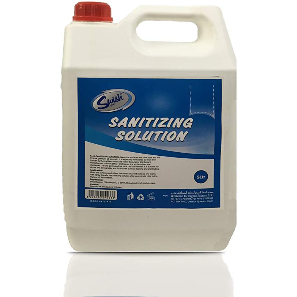 Swish Sanitizing Solution- 4 Pieces of 5L/Carton