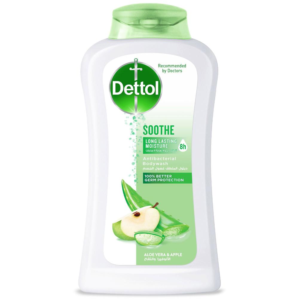 Dettol Sooth Anti- Bacterial Body Wash 250ml (Aloe Vera & Apple)
