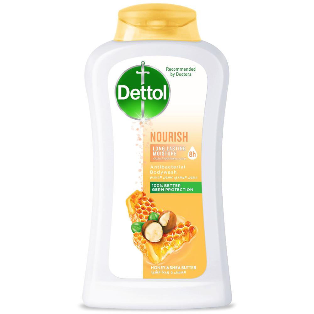 Dettol Nourish Anti- Bacterial Body Wash 250ml (Honey & Shea Butter)