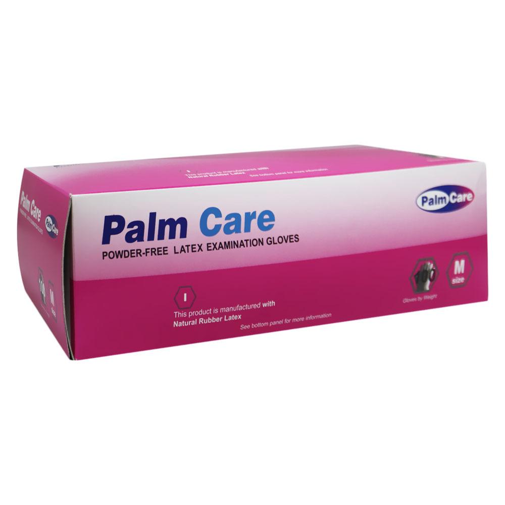 Palm Care Latex Gloves Medium White 100pcs Powder Free