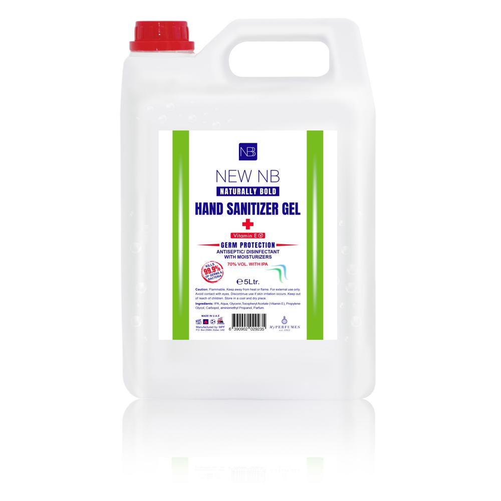 New NB Sanitizer Gel – 5 Litre Can