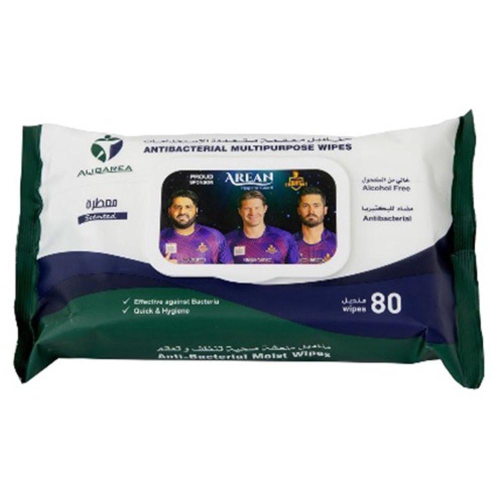 Arean Antibacterial Multipurpose Wipes - 1 pack x 80 wipes