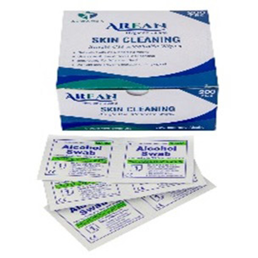 Arean Skin Cleaning Wipes (Alcohol Swabs) - 1 bo x 200 swabs