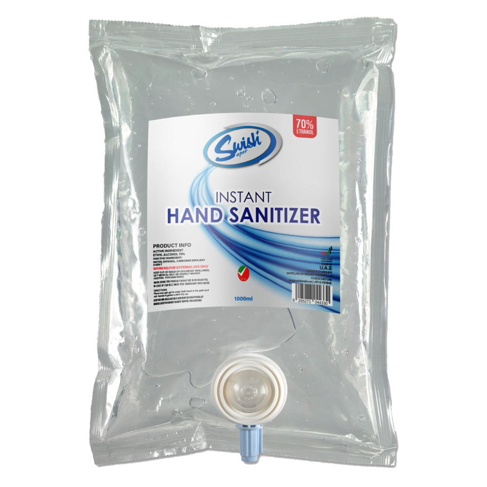 Swish Hand Sanitizer Gel 1000ml Refill Bag ESMA ECAS Certified