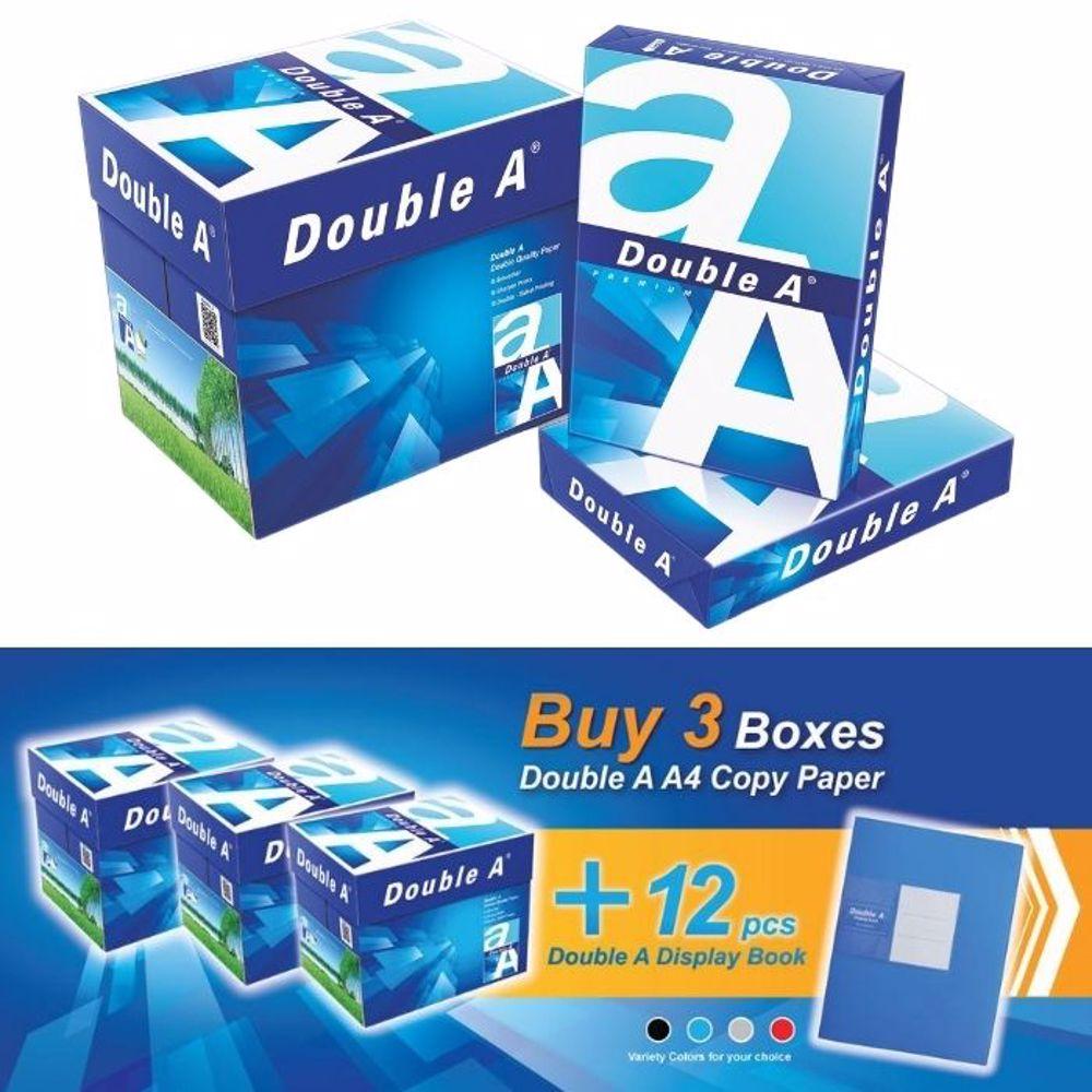 Double A A4 (3 Box + 12 PCs Display Book) Bundle Offer