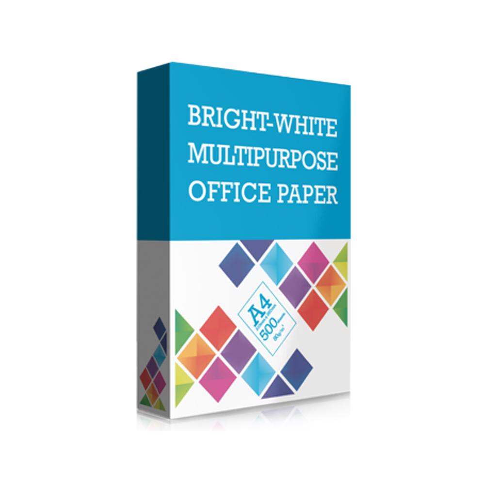 Bright-White Multipurpose Office Paper A4 80 GSM (5 Reams/Box)