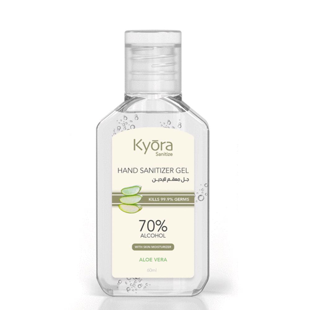 Kyora Hand Sanitizer Gel 60ml - Aloe Vera (Clear)