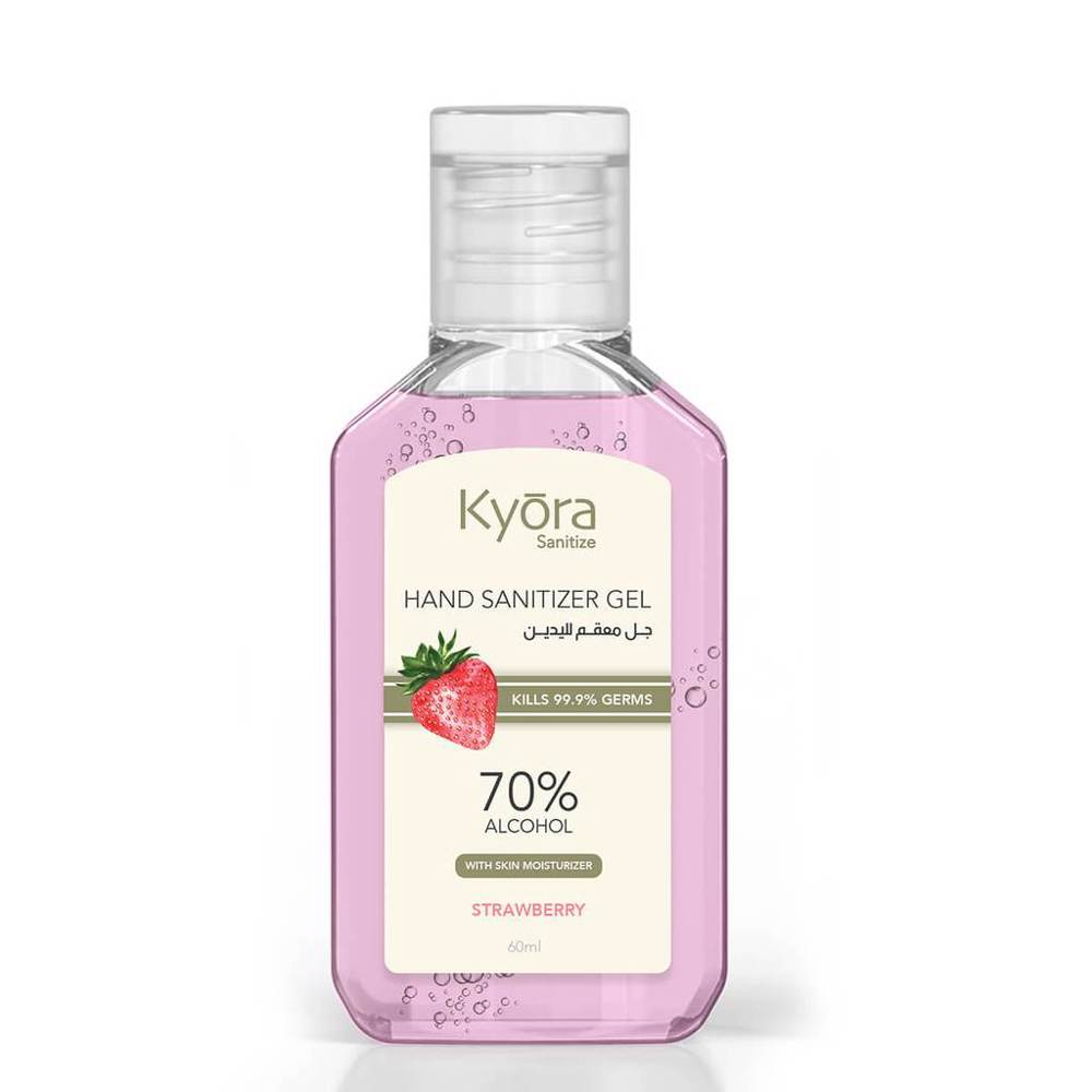 Kyora Hand Sanitizer Gel 60ml - Strawberry (Pink)