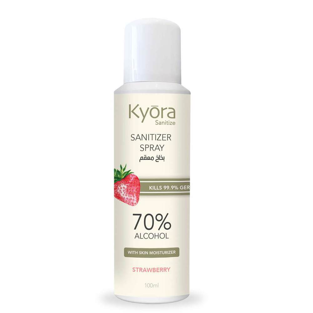 Kyora Sanitizer Aerosol Spray 100ml - Strawberry (Pink)