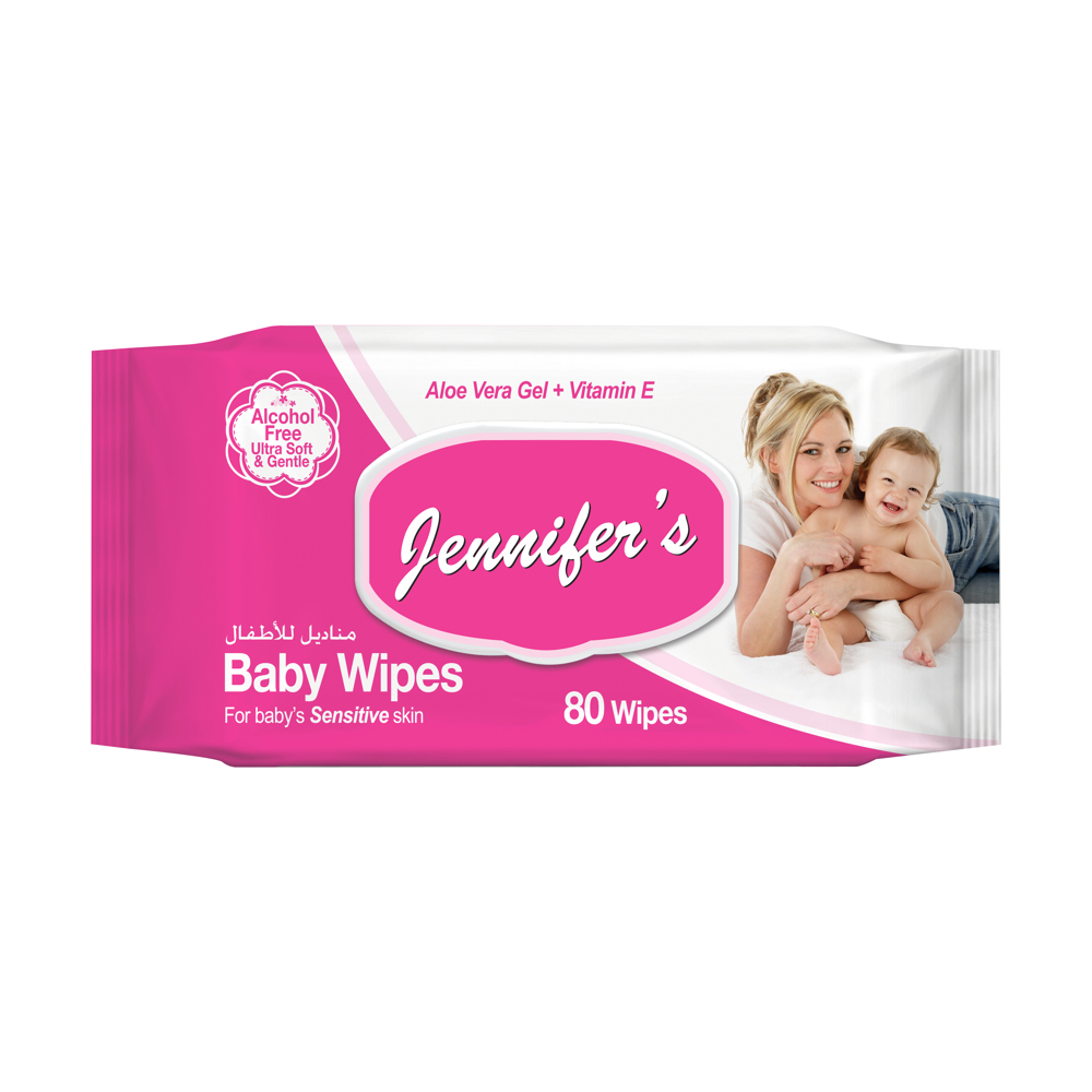 Jennifer's Baby Wipes 80 sheets With Lid