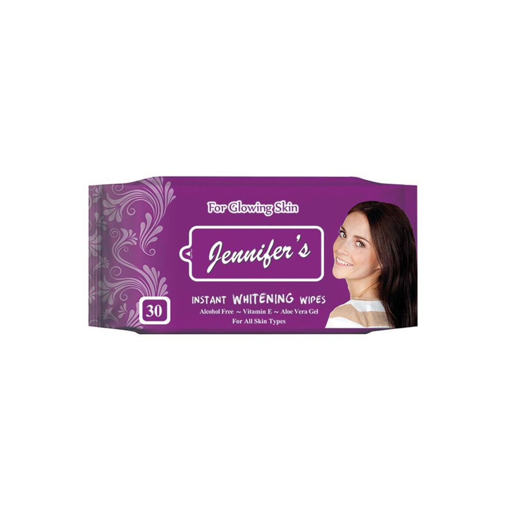 Jennifer's Instant Whitening Wipes - 30 sheets