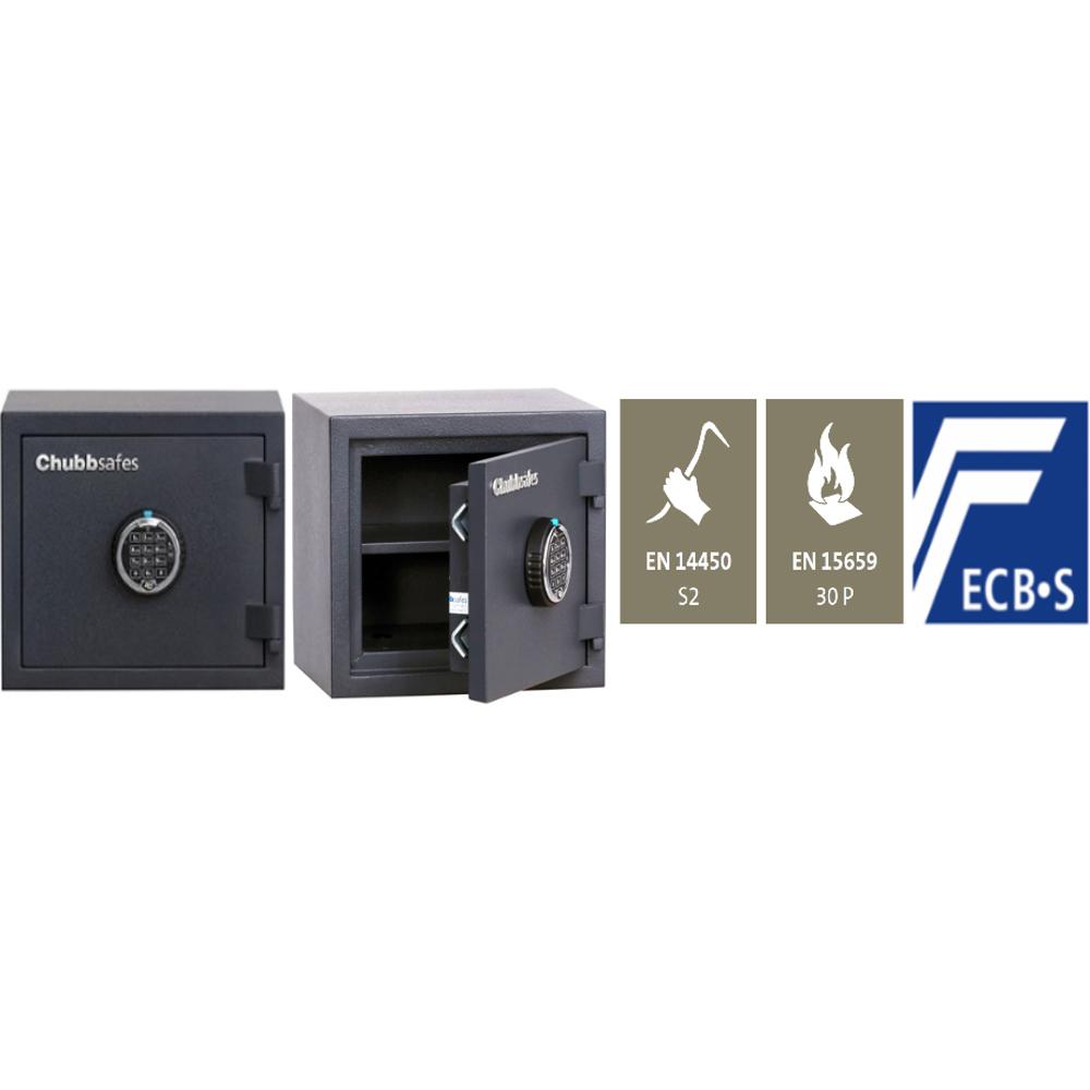 Chubbsafes Home Safe Model 10 Certified Fire & Burglar Resistant Safe-11L