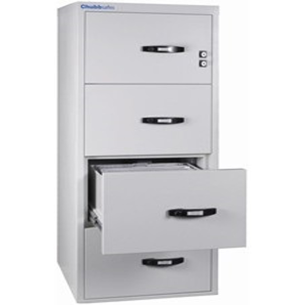 Chubbsafes Profile NT Fire Resistant Document Protection Cabinet Model NT 120 31In - 4 Dr With 4 Drawers-139L
