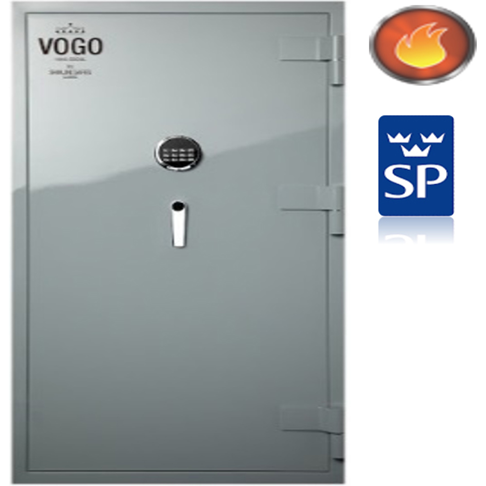 Shinjin Vogo Safes Fire Resistant Safe, Model VGF-935 Signal Red With Electronic Lock-127L