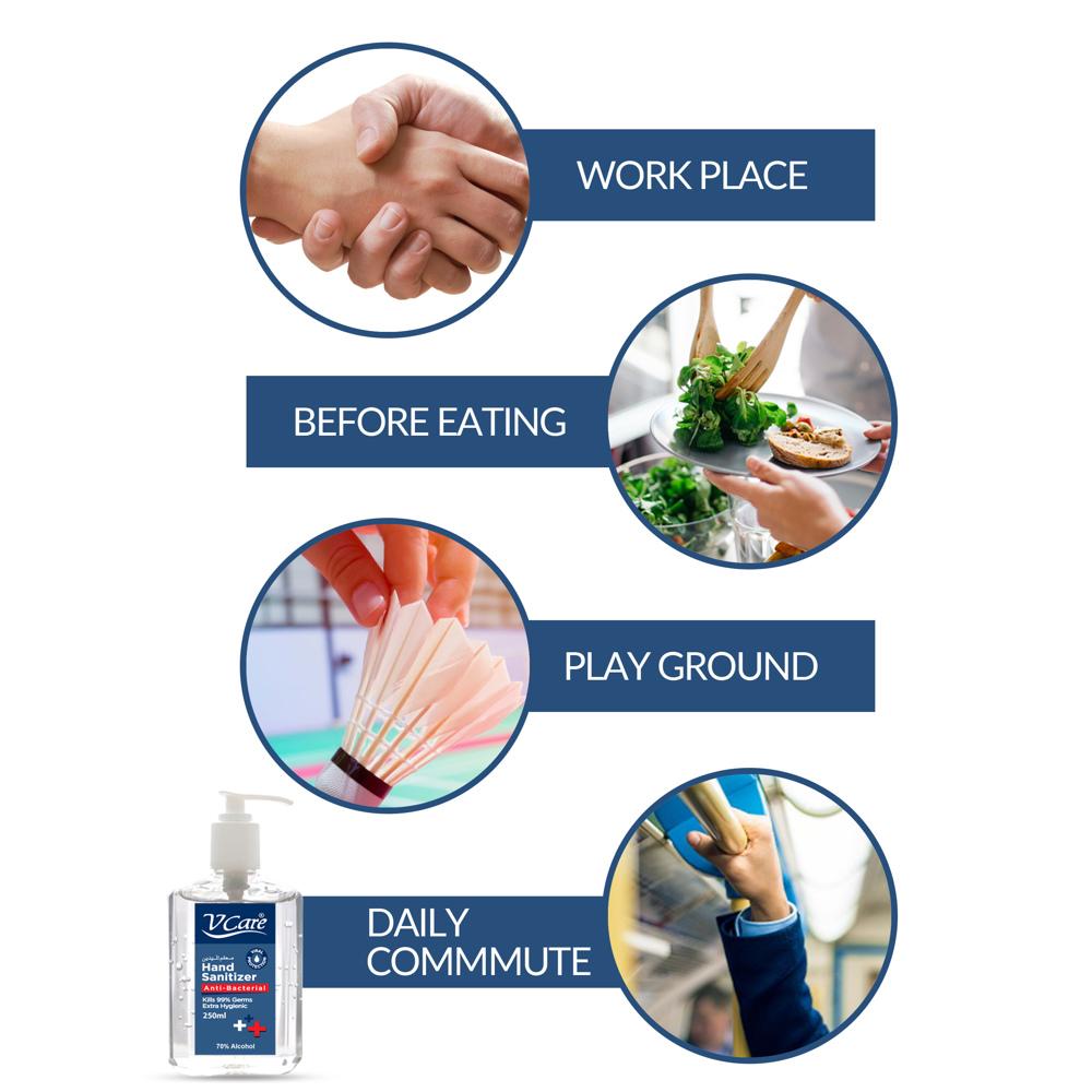 V Care Hand Sanitizer Gel 250ml - 70% Alcohol - 250 ml