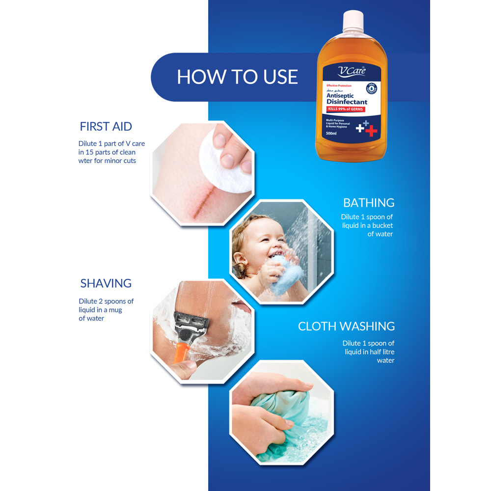 V Care Disinfectant Antiseptic - 500ml