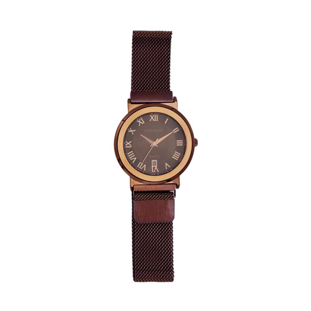 Trend Setter Men''s Coffee Watch - Mesh Band TD2110M-6