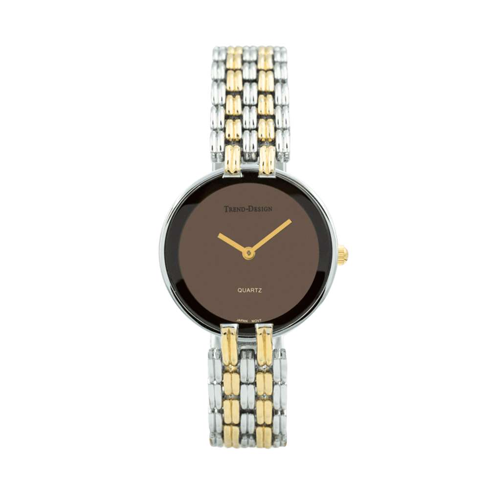 Trend Setter Women''s Two Tone Gold Watch - Alloy Metal TD3101L-4