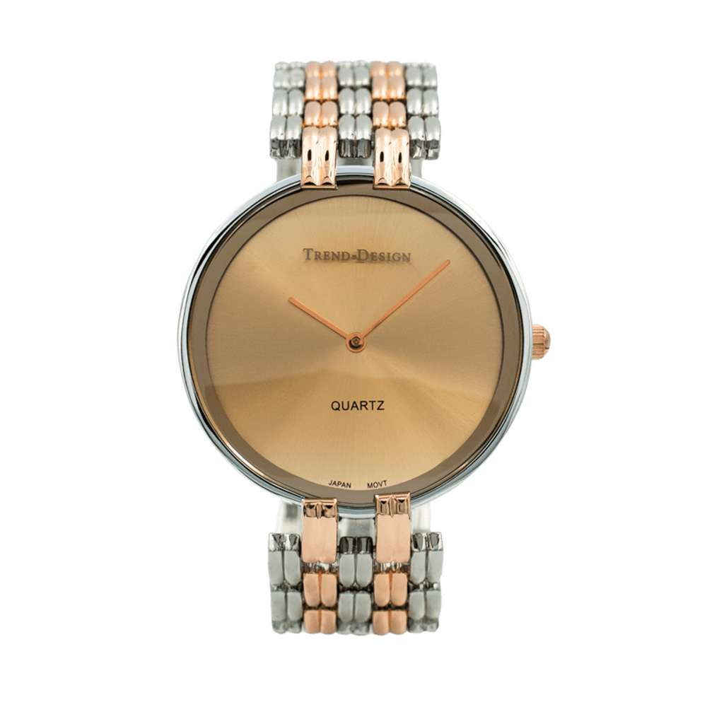 Trend Setter Men''s Two Tone Rose Watch - Alloy Metal TD3101M-6