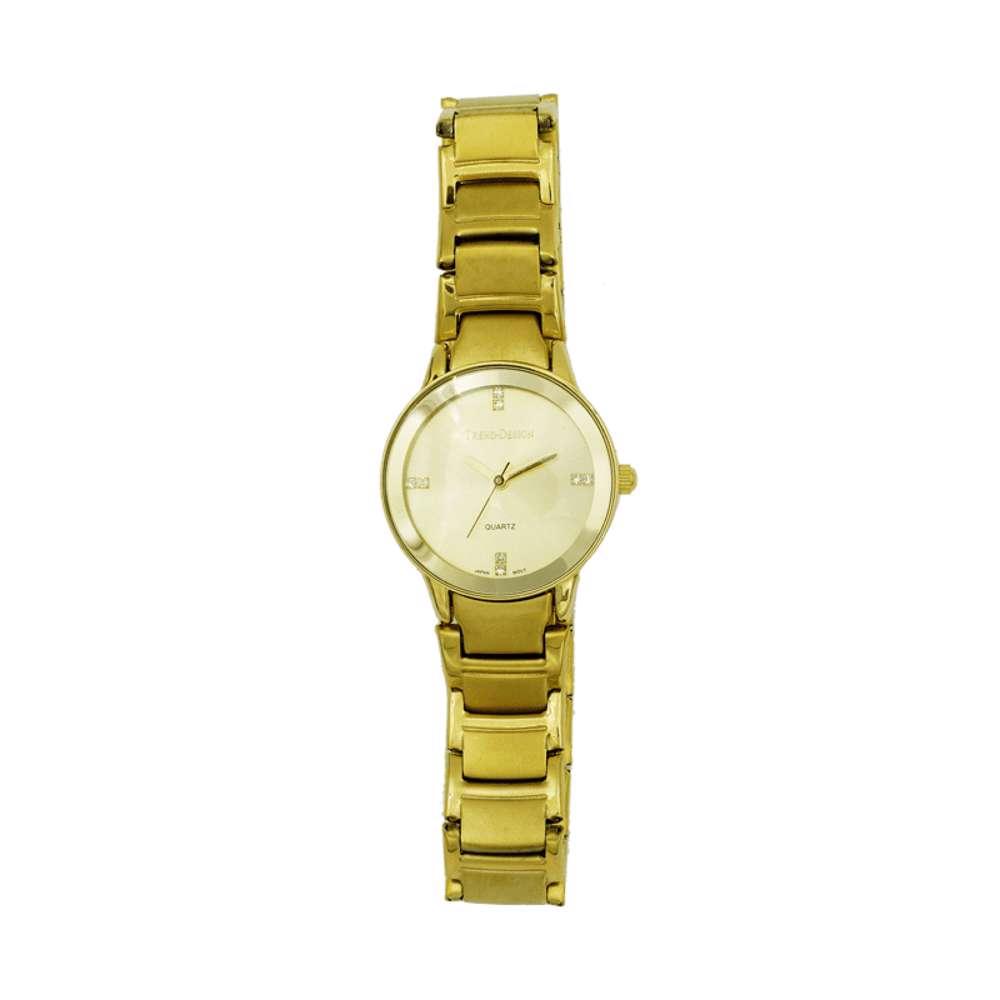 Trend Setter Women''s Gold Watch - Alloy Metal TD3102L-1