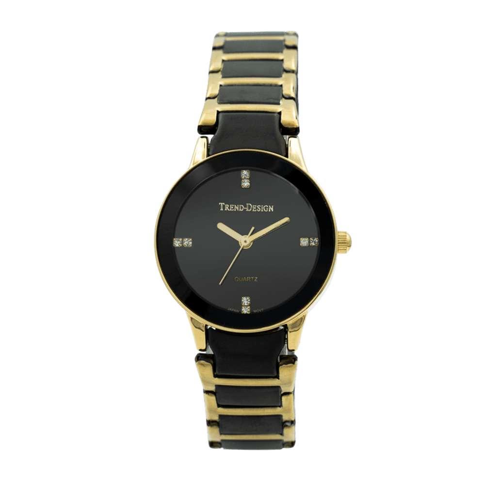 Trend Setter Women''s Black Watch - Alloy Metal TD3102L-3