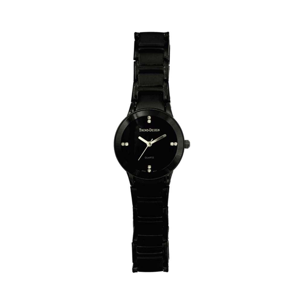 Trend Setter Women''s Black Watch - Alloy Metal TD3102L-4
