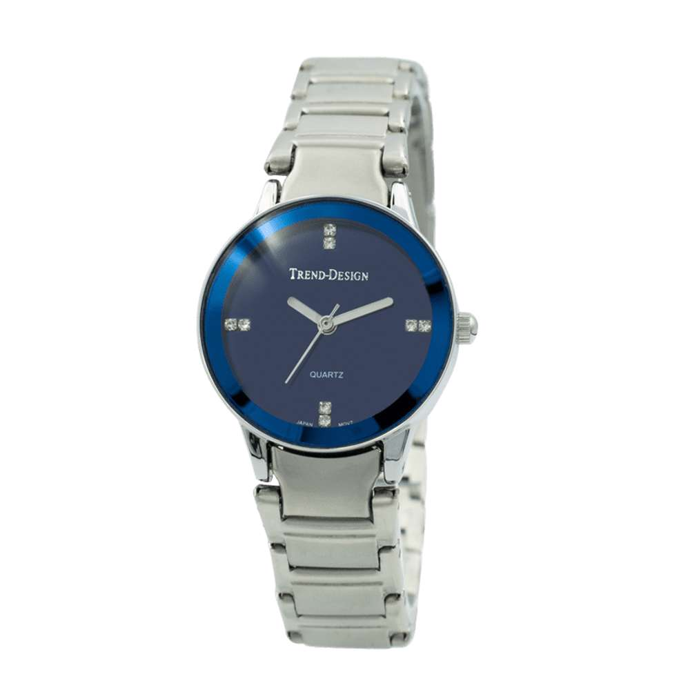 Trend Setter Women''s Silver Watch - Alloy Metal TD3102L-5