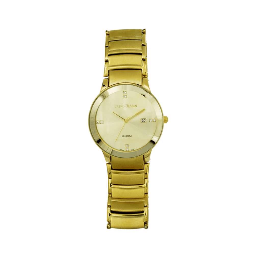 Trend Setter Men''s Gold Watch - Alloy Metal TD3102M-1