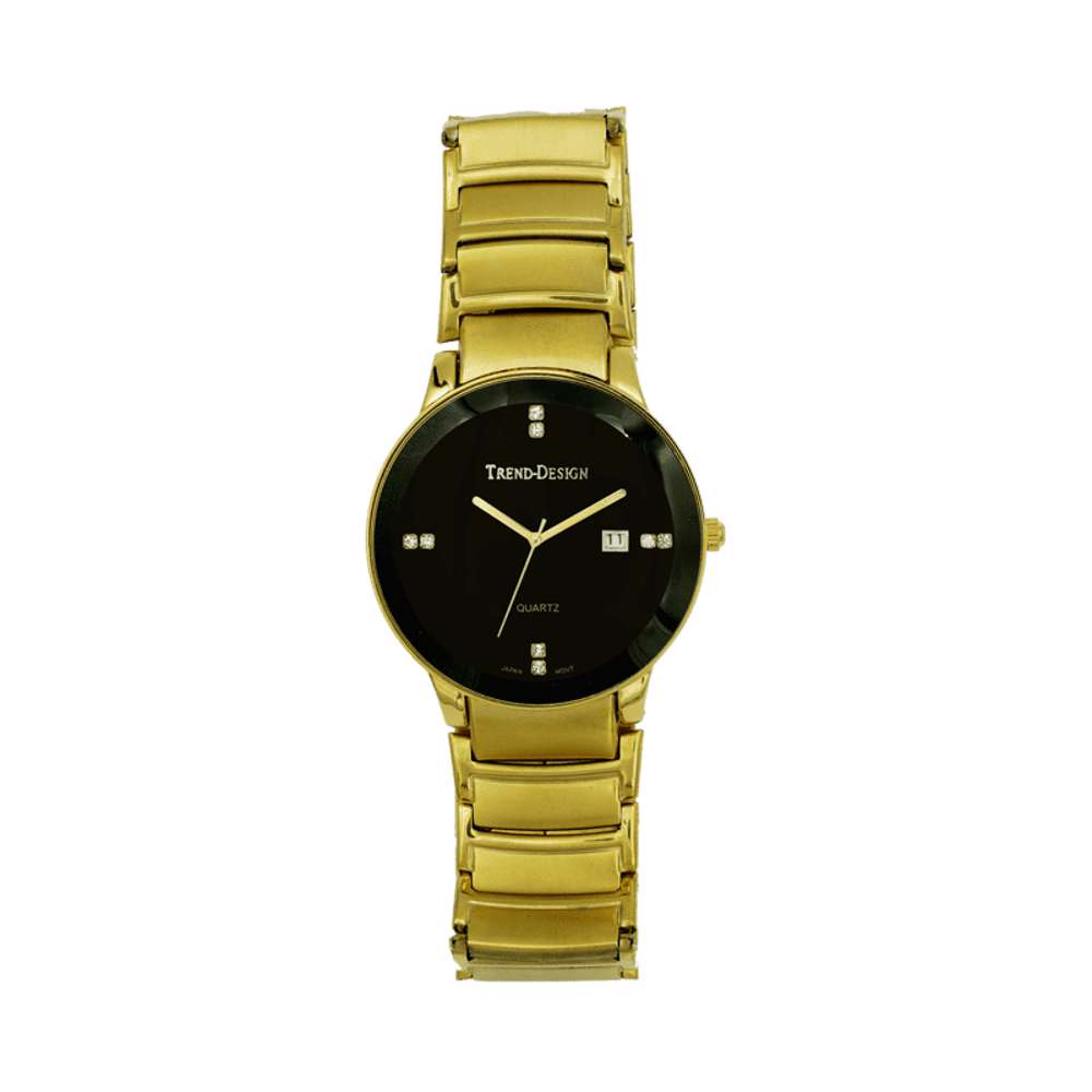 Trend Setter Men''s Gold Watch - Alloy Metal TD3102M-2