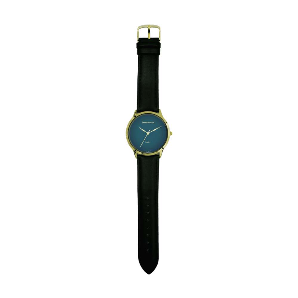 Trend Setter Men''s Black Watch - Leather Strap TD3103M-2