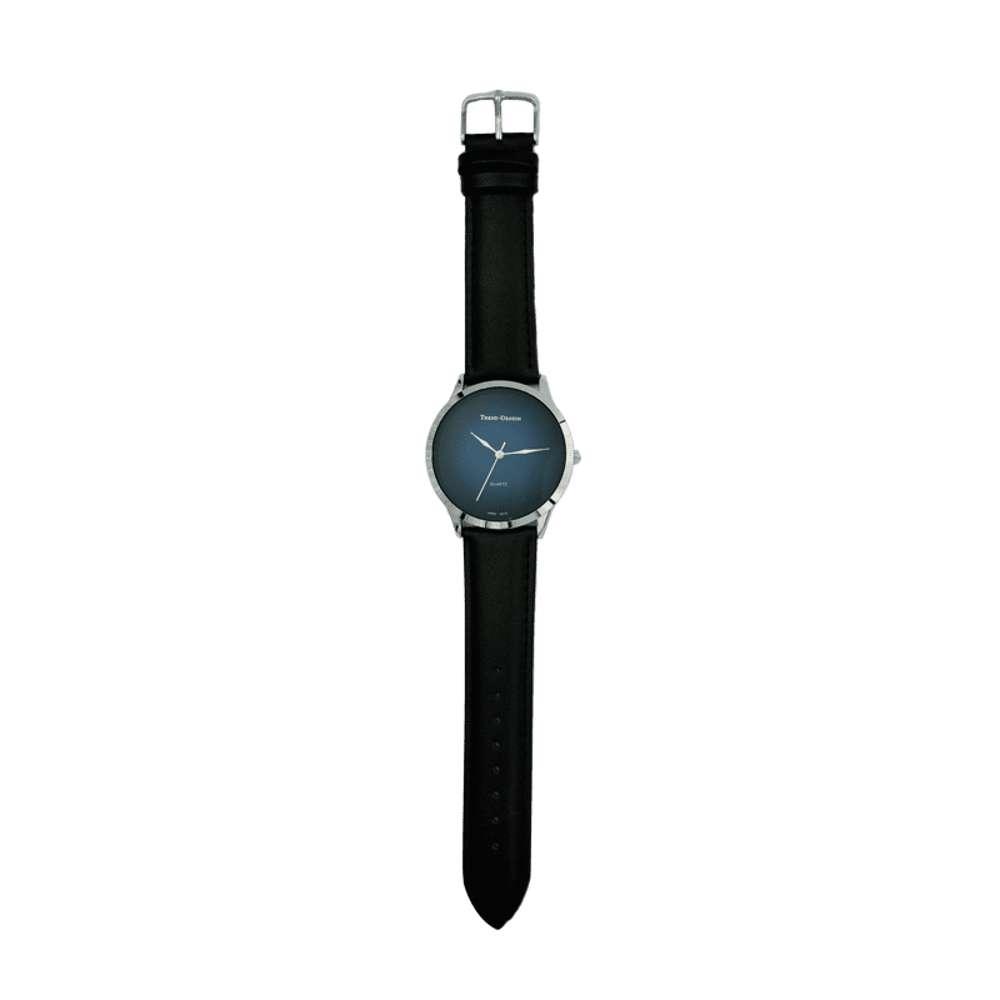 Trend Setter Men''s Black Watch - Leather Strap TD3103M-8