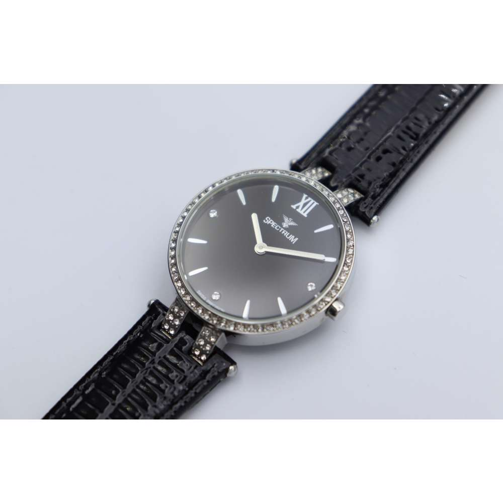 Creative Women''s Black Watch - Leather S12504L-6