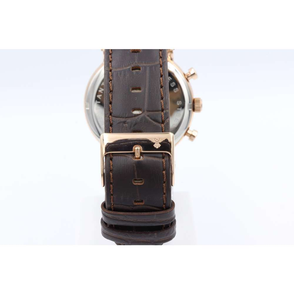 Multidimensional Men''s Brown Watch - Leather S23058M-1