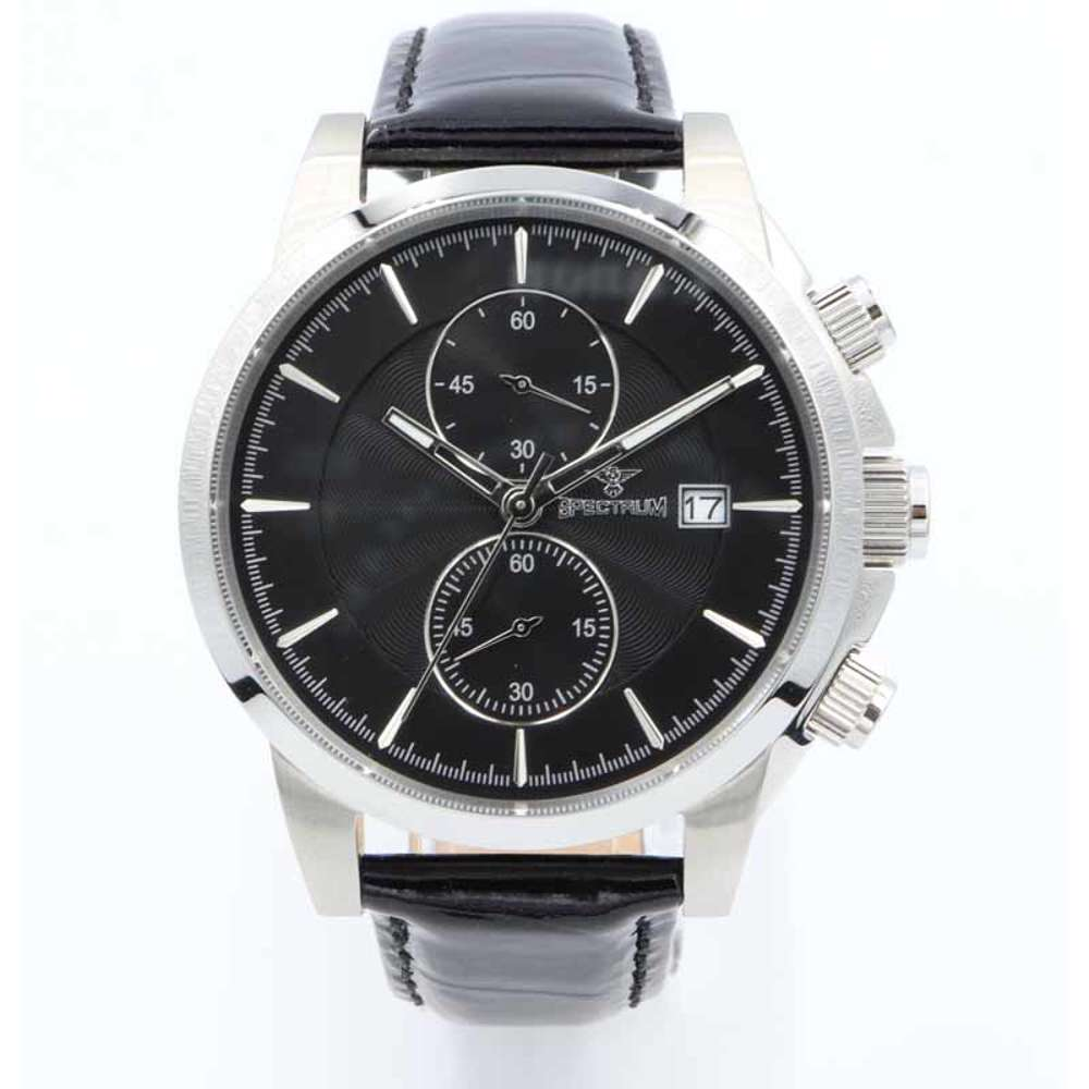 Multidimensional Men''s Black Watch - Leather S23070M-4