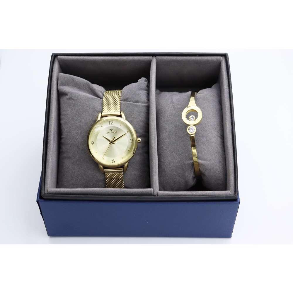 truth Seeker Women''s Gold Watch Set - Mesh Band S25176L-1B