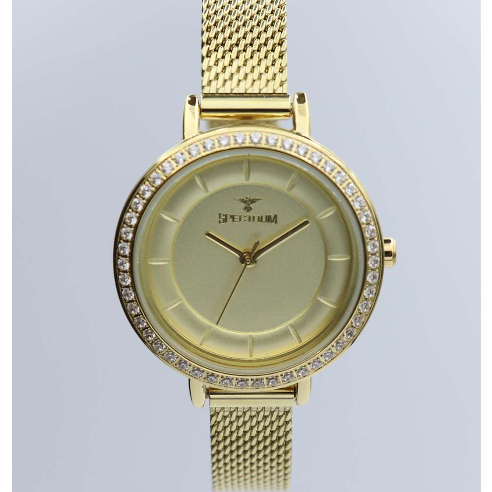 Creative Women''s Gold Watch Set - Mesh Band S25178L-1B