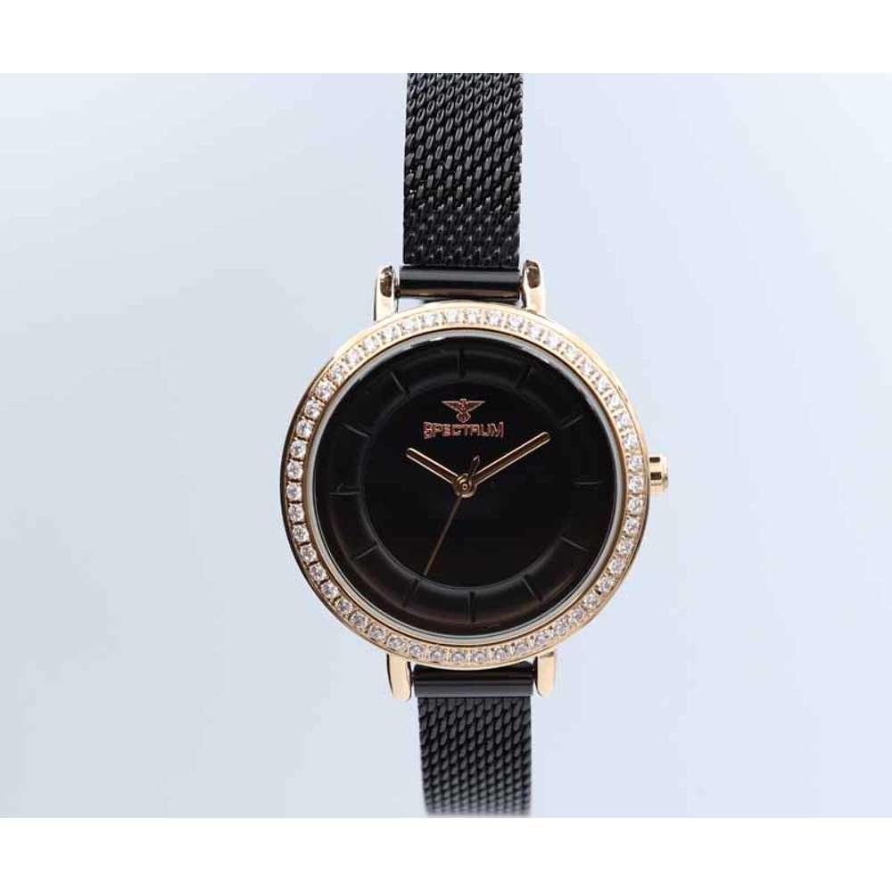 Creative Women''s Black Watch - Mesh Band S25178L-6