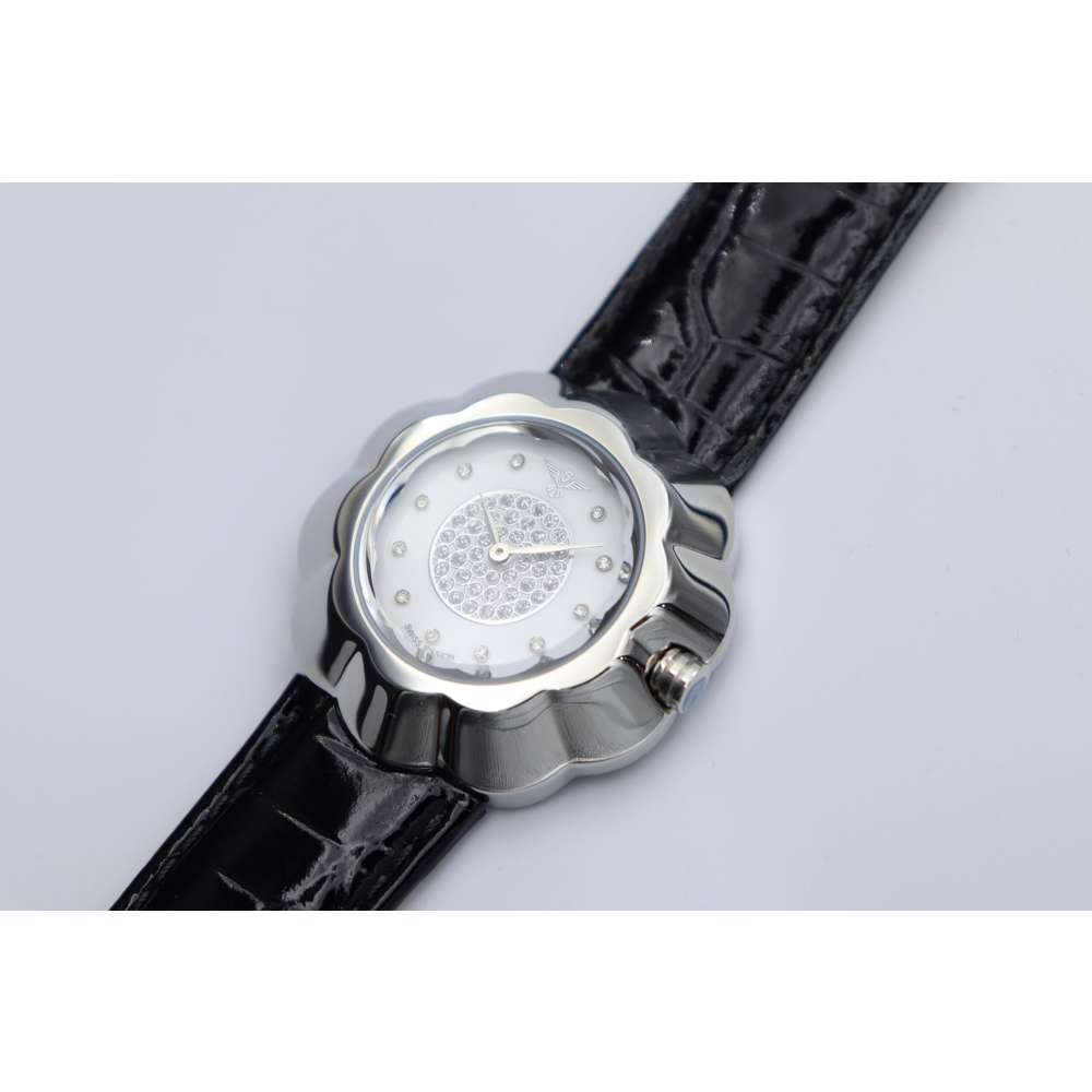 Creative Women''s Black Watch - Leather S27015L-4