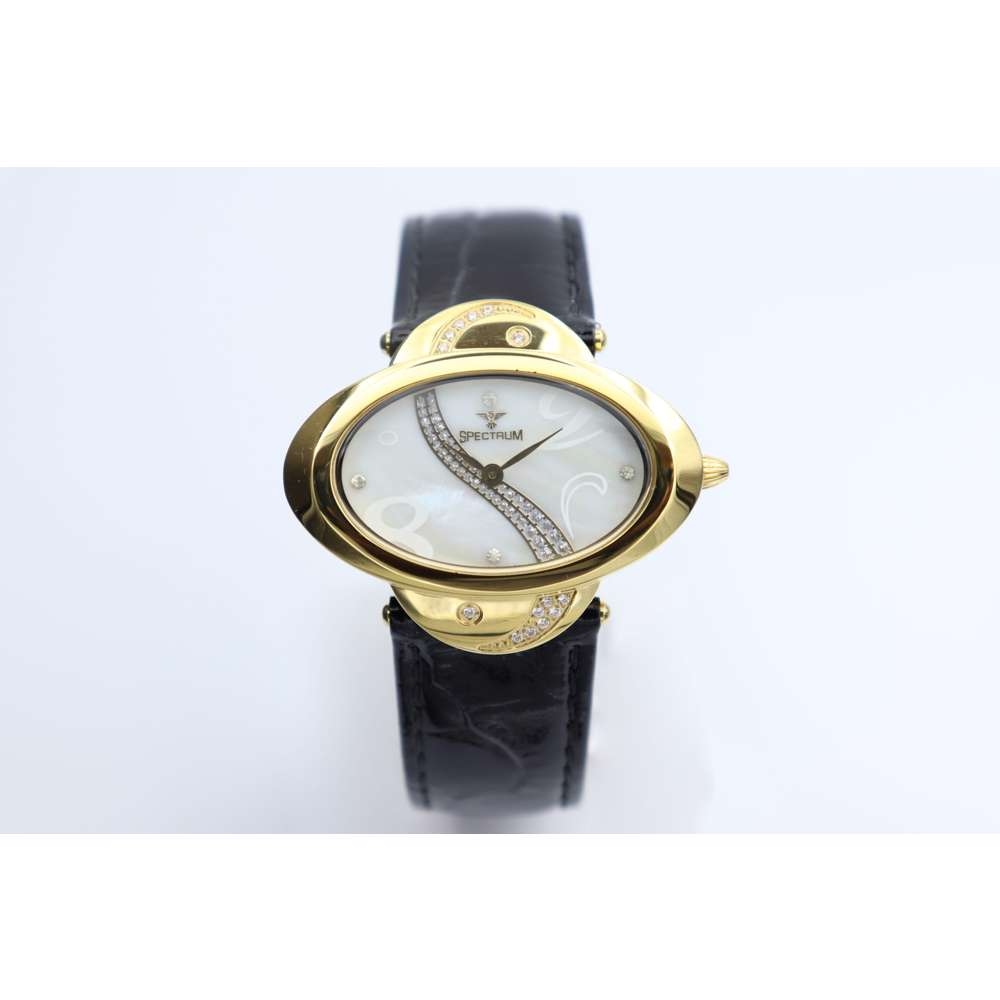 Creative Women''s Black Watch - Leather S27016L-2