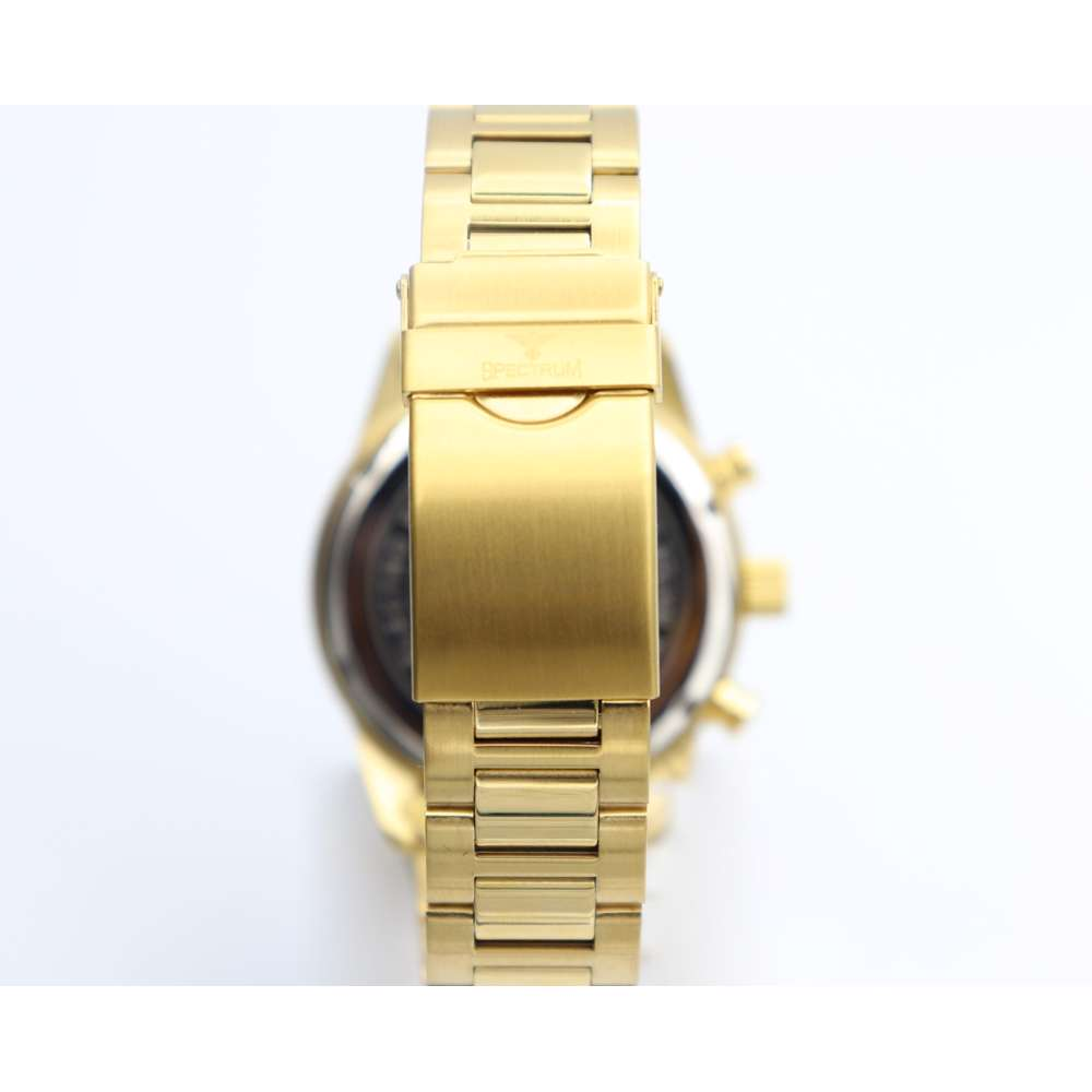 Multidimensional Men''s Gold Watch - Stainless Steel S82436M-1