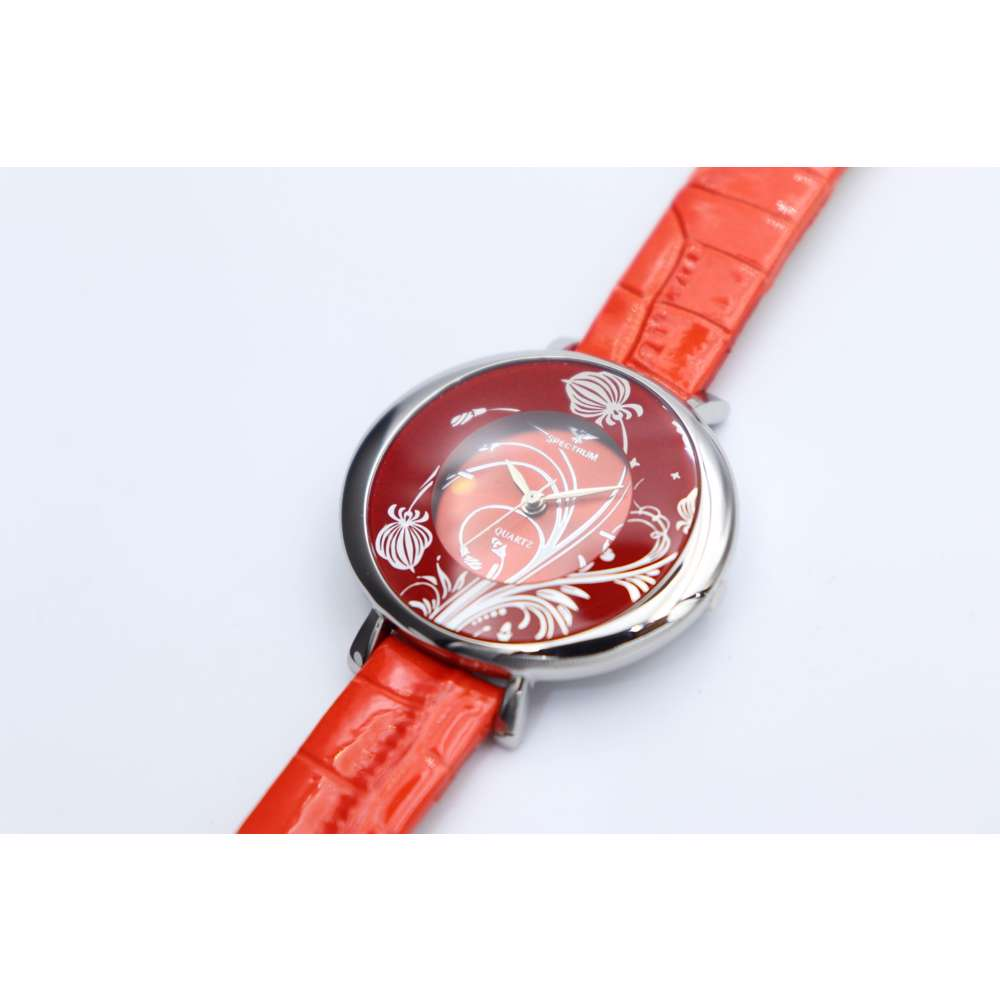 Creative Women''s Red Watch - Leather SP93470L-4