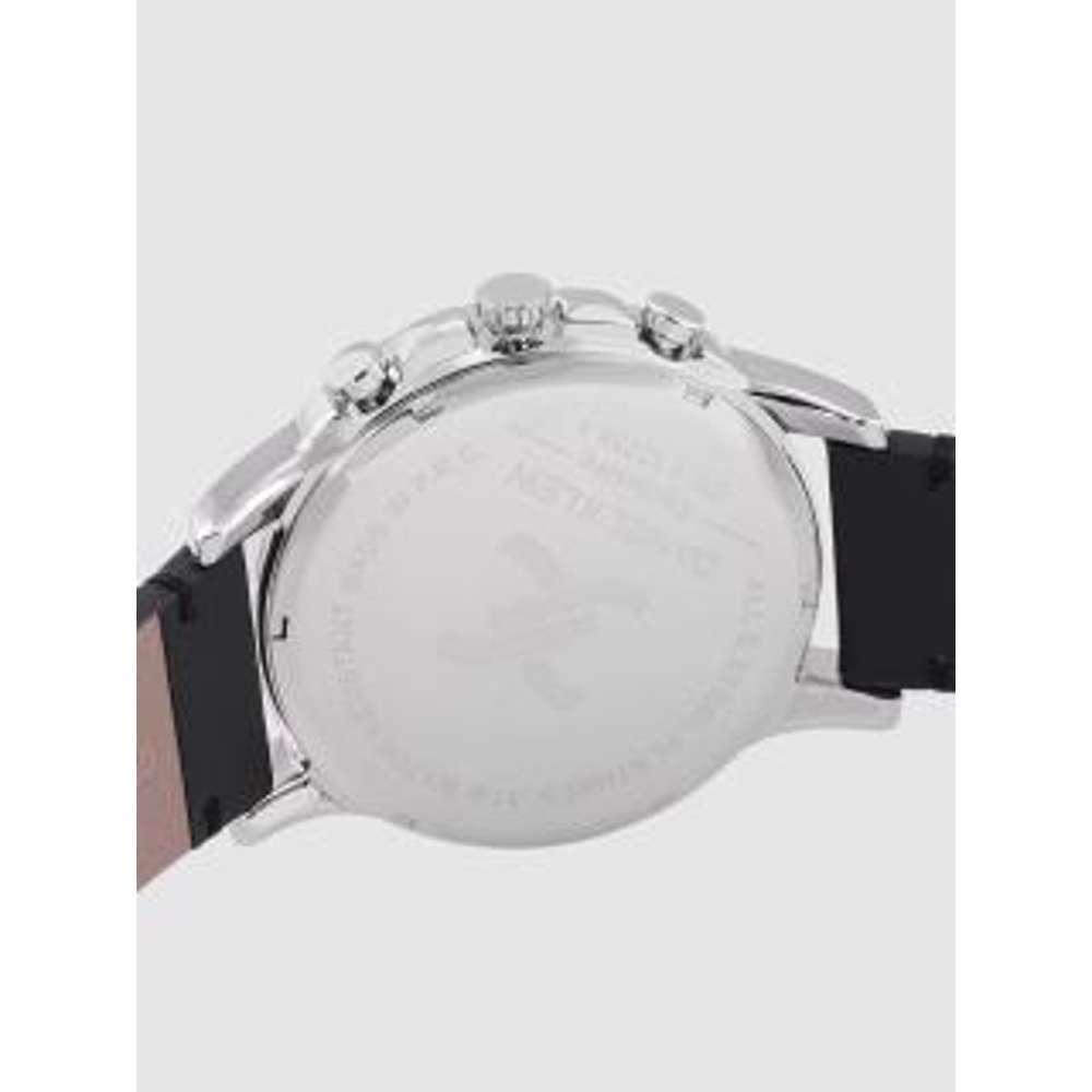 Leather Mens''s Black Watch - DK.1.12255-1