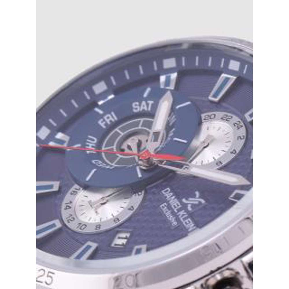 Leather Mens''s Blue Watch - DK.1.12255-3