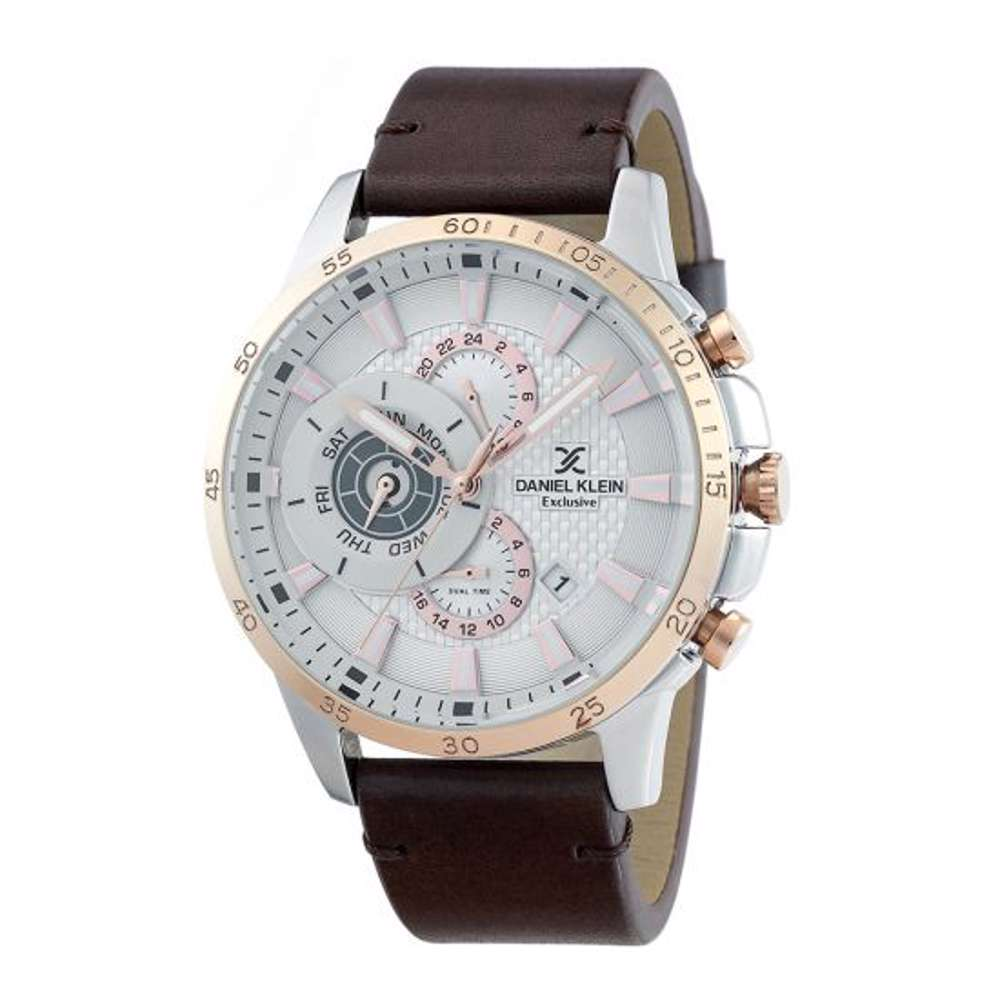 Leather Mens''s Brown Watch - DK.1.12255-5