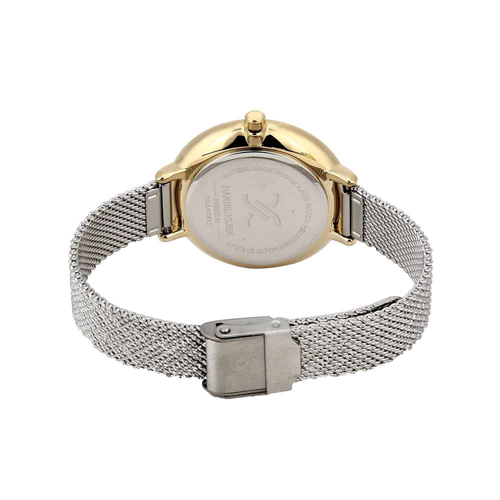 Mesh Band Womens''s Silver Watch - DK.1.12256-2